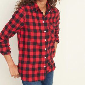 OLD NAVY Classic Shirt Buffalo Check Plaid Flannel